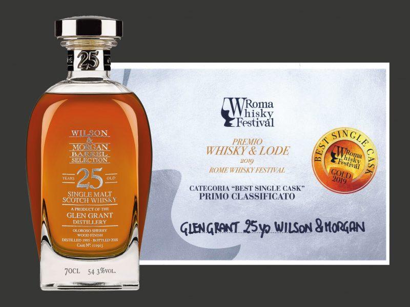 Roma Whisky Festival: medaglia d'oro per il Glen Grant 25yo Wilson & Morgan.