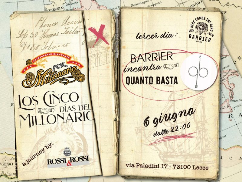 Los Cinco Dìas delMillonario – 6 Giugno – Quanto Basta, Lecce
