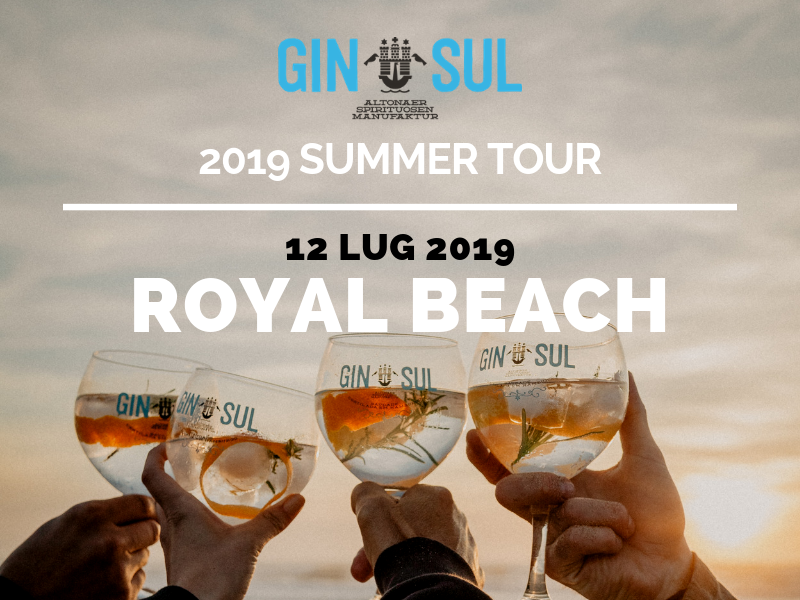 GIN SUL 2019 Summer Tour – 12 Lug – Royal Beach, Milano Marittima