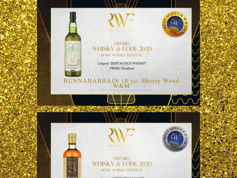 Wilson & Morgan – 2 Medaglie a Roma Whisky Festival 2020